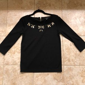 Ann Taylor Black shirt with embellishments